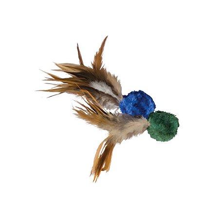 Brinquedo Kong Naturals  Crinkle Ball w/Feathers com Catnip para Gatos