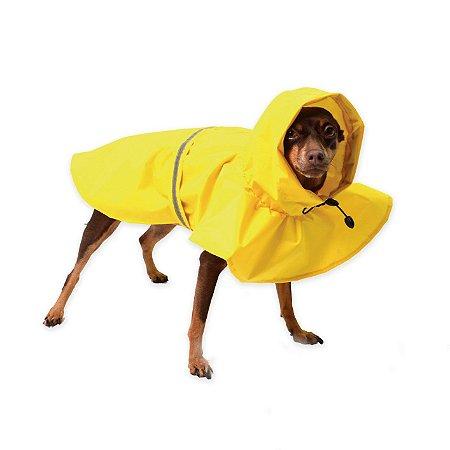 Capa de Chuva para Cachorros Basic It Amarela