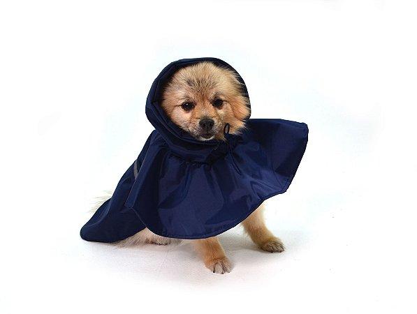 Capa de Chuva para Cachorros Basic It Marinho