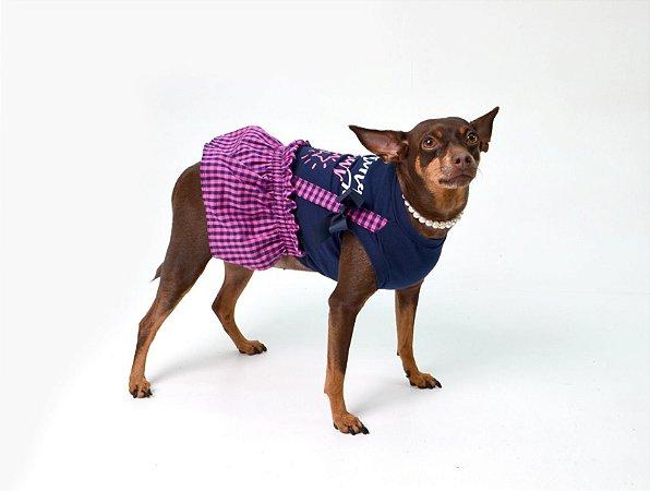 Vestido para Cachorros | Gatos Xadrez