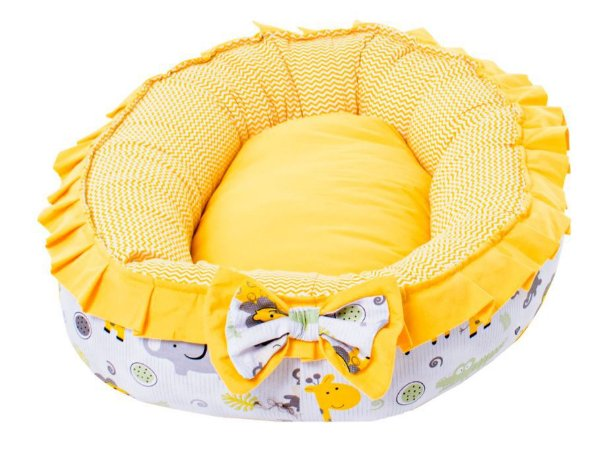 Cama para Cachorros Bercinho Conforto Amarelo