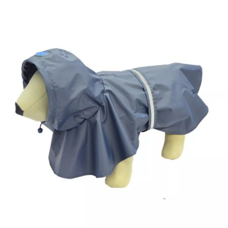 Capa de Chuva para Cachorros Azul