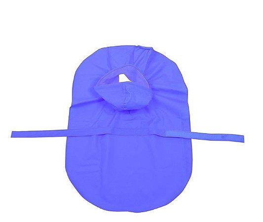 Capa de Chuva para Cachorros Cristal Glitter Azul