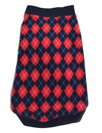 Blusão Básico para Cachorros Charme Vermelho