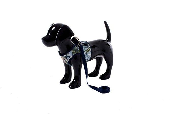 Peitoral com Guia para Cachorro Valência Azul