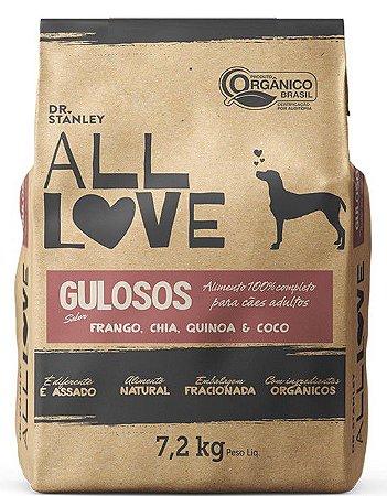 Ração Orgânica All Love para Cães Gulosos 7,2 kg
