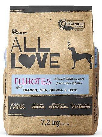 Ração Orgânica All Love para Cães Filhotes 7,2 kg