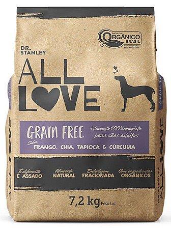 Ração Orgânica All Love para Cães Grain Free 7,2 kg