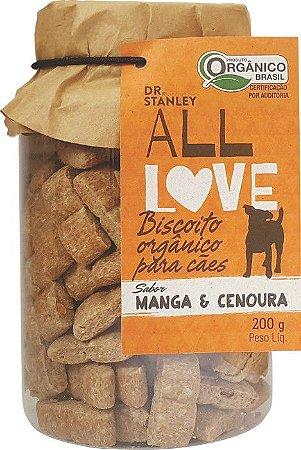 Biscoito Orgânico All Love para Cães - Manga & Cenoura