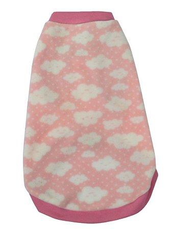Blusão Básico para Cachorros Nuvem Rosa