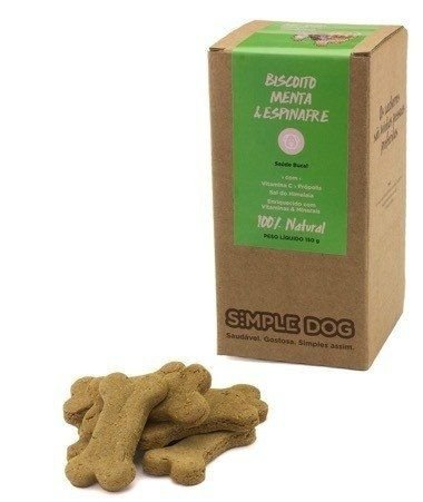 Biscoito para Cães Simple Dog Menta & Espinafre 150g