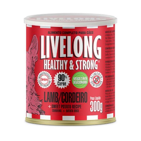 LiveLong Dogs Cordeiro 300g