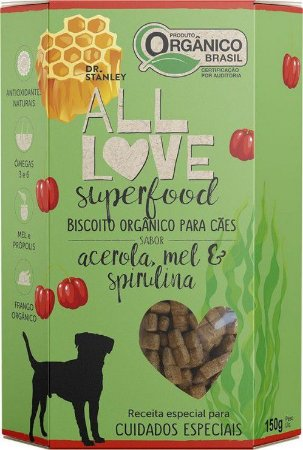 Biscoito Orgânico All Love Superfood | Acerola, Mel & Spirulina