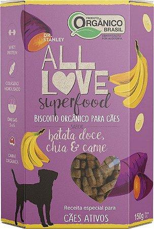 Biscoito Orgânico All Love Superfood | Batata Doce, Chia & Carne 150g