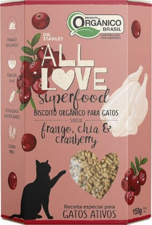 Biscoito Orgânico All Love Superfood | Frango, Chia & Cranberry 150g