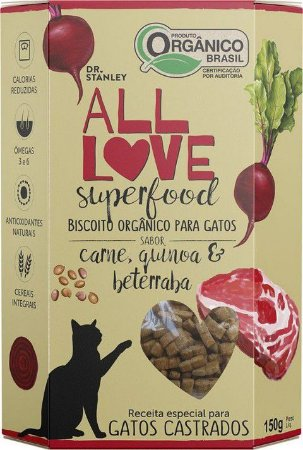 Biscoito Orgânico All Love Superfood | Carne, Quinoa & Beterraba 150g