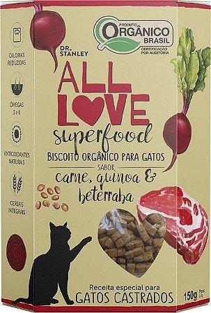 Biscoito Orgânico All Love Superfood | Carne, Quinoa & Beterraba