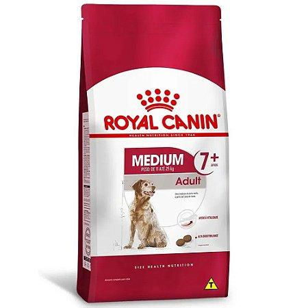 Ração Royal Canin Medium Adult 7+ para Cachorros Adultos de Raças Médias