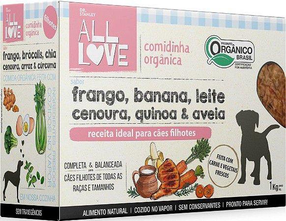 Comidinha Orgânica All Love para Cães Filhotes 1kg