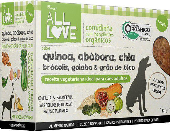 Comidinha Orgânica All Love para Cães Veggie 1kg