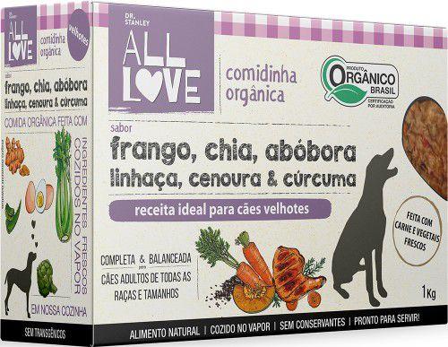 Comidinha Orgânica All Love para Cães Velhotes 1kg