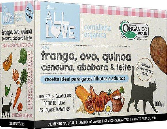 Comidinha Orgânica All Love para Gatos Filhotes e Adultos 900g