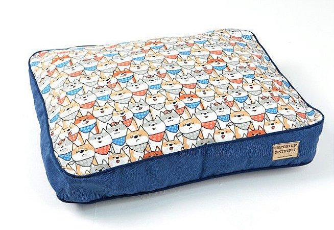 Almofada Impermeável para Cachorros | Gatos Doguinhos Azul