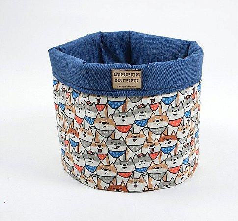 Cesto Organizador para Cachorro | Gatos Doguinhos Azul