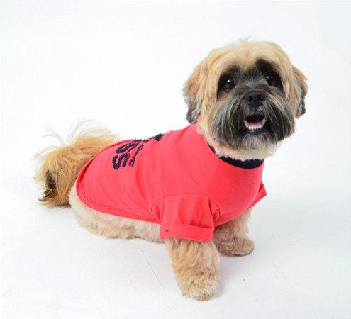 Camiseta para Cachorro Big Boss Vermelho