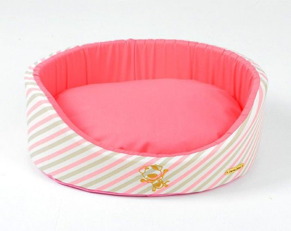 Cama Oval para Cachorros Queen Rosa