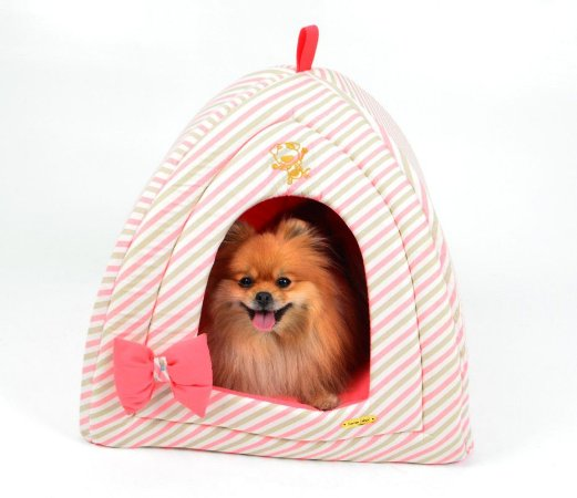 Toca para Cachorro Queen Rosa