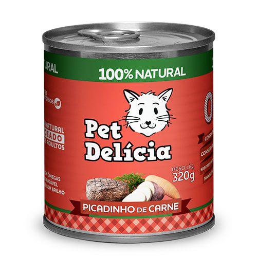 Ração Úmida Pet Delícia para Gatos Picadinho de Carne