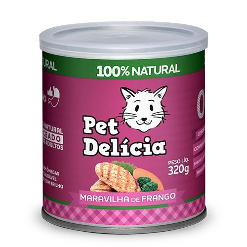 Ração Úmida Pet Delícia para Gatos Maravilha de Frango