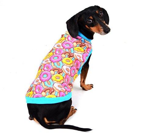 Blusão Básico para Cachorros | Gatos Donuts Azul