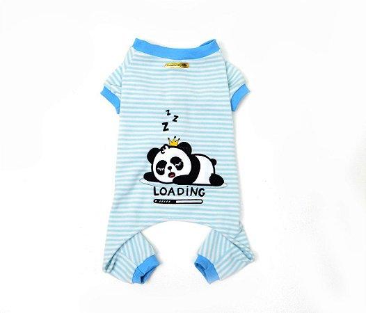 Pijama para Cachorros Panda Azul