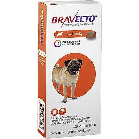 Bravecto Antipulgas e Carrapatos para Cães de 4,5 até 10 kg