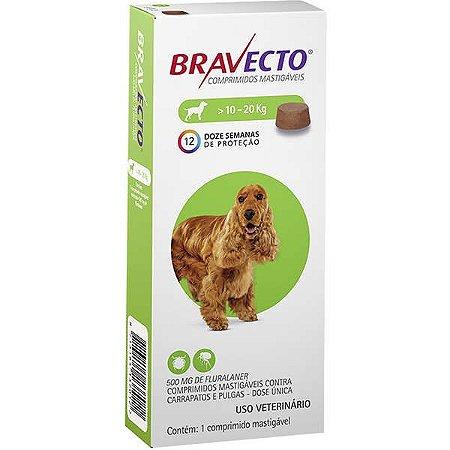 Bravecto Antipulgas e Carrapatos para Cães de 10 até 20 kg