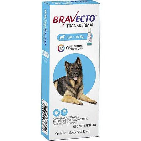 Bravecto Antipulgas e Carrapatos Transdermal para Cães de 20 até 40 kg