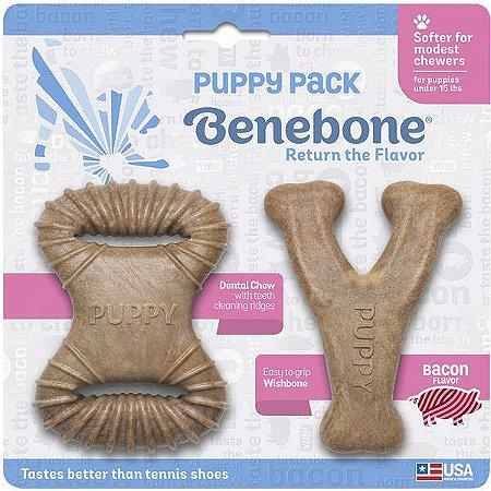 Brinquedos Benebone Puppy Dental+Wish Bacon