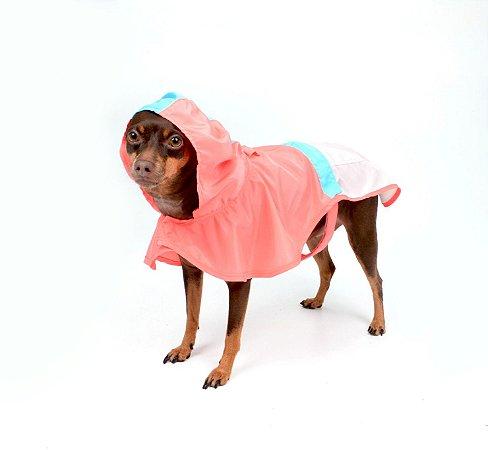 Capa de Chuva para Cachorros Action Salmão