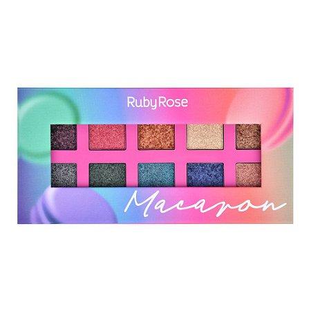 Paleta De Sombras Essência Macaron – Ruby Rose HB1052