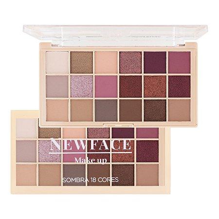 Paleta de Sombras 18 cores - New Face 02
