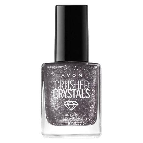 Esmalte Avon Crushed Crystals  Preto