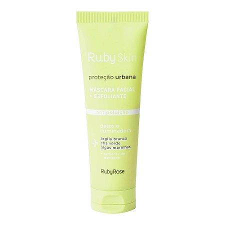 Máscara + Esfoliante Facial Proteção Urbana Ruby Skin 50g
