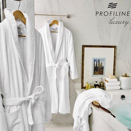 Roupão Unissex Aveludado Profissional Tamanho P - Imperial - Profiline Luxury