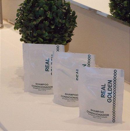 Caixa 150 Sachet Shampoo-Condicionador 2x1 30ml - Erva Doce - Realgem's