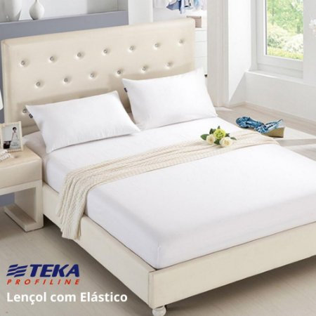 Lençol Profissional com Elástico Solteiro 90x203+40cm - 180 fios - TEKA Profiline