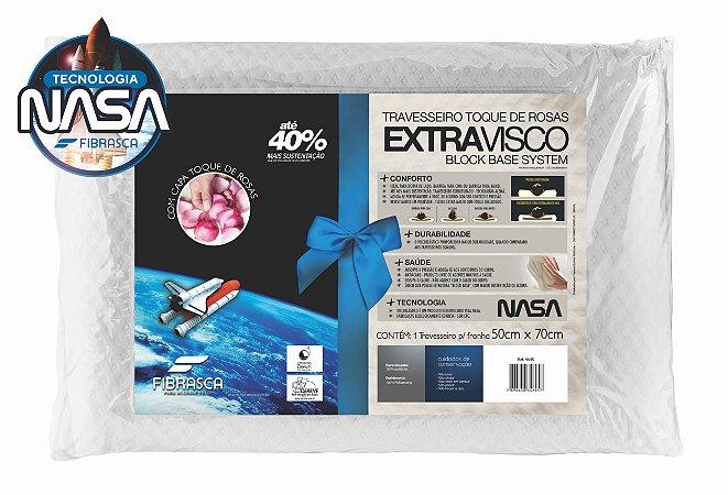 Travesseiro 50x70 - Nasa Extravisco Íons de Prata Block Base System - Fibrasca