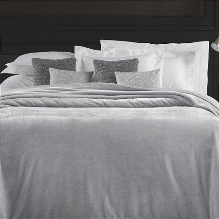 Cobertor King 240x290cm 450 g/m² Aveludado Piemontesi Platino - Trussardi