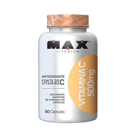 Vitamina C 500mg 60 Cápsulas Max Titanium